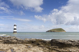 Lighthouse and Puffin Island at Penmon Point, Anglesey