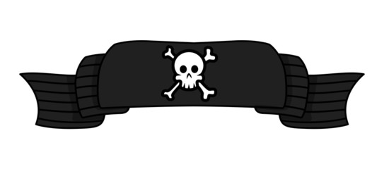 Pirate Banner - Vector Cartoon Illustration