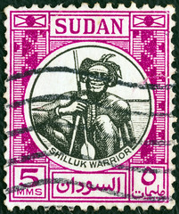 Shilluk warrior (Sudan 1951)