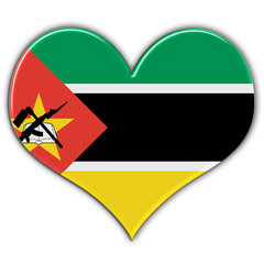 Heart with flag of Mozambique