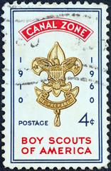 Boy Scouts of America emblem (Panama Canal Zone 1960)