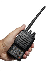 Holding radio transceiver