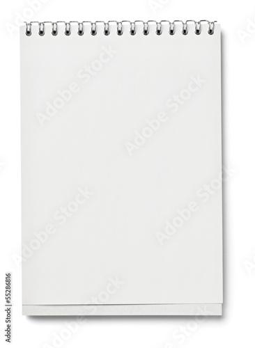 Leinwanddruck Bild leaflet letter business card white blank paper template