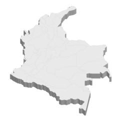 コロンビア 地図 国