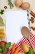 Kochbuch mit Zutaten
