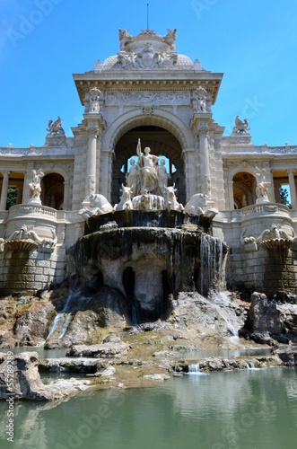 Leinwanddruck Bild MARSEILLE : Fontaine du Parc Chanot