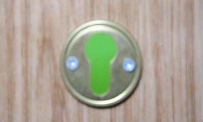 keyhole against chroma key