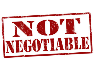 Not negotiable stamp