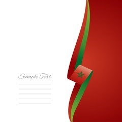 Moroccan right side brochure cover vector