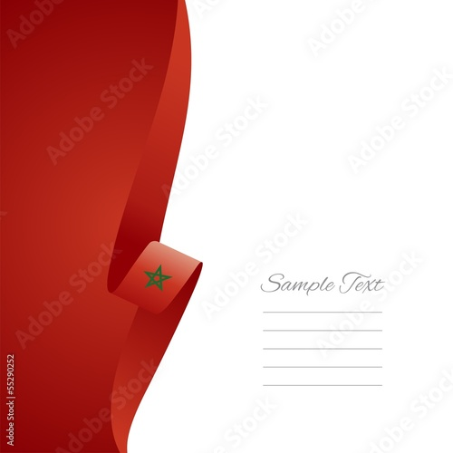 Moroccan left side brochure cover vector