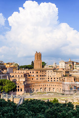 The Torre delle Milizie and the Trajan Forum