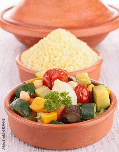vegetable and semolina