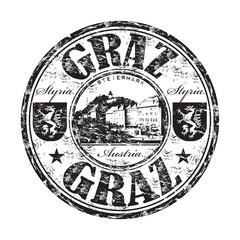 Graz grunge rubber stamp
