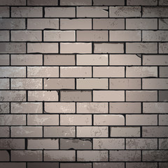 Unsaturated brick wall