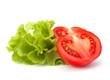 tomato vegetable and lettuce salad