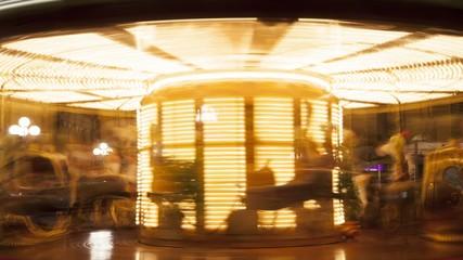 Merry-go-round. Time lapse