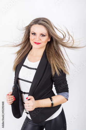Attractive young woman posing