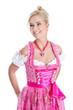 Lachende junge Frau auf dem Oktoberfest in München