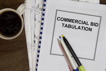 Commercial bid tabulation