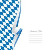 Bavarian left side brochure cover vector