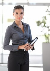 Office portrait of young businesswoman