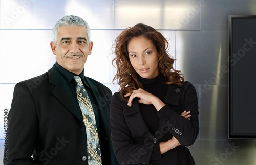 Portrait of elegant businesspeople