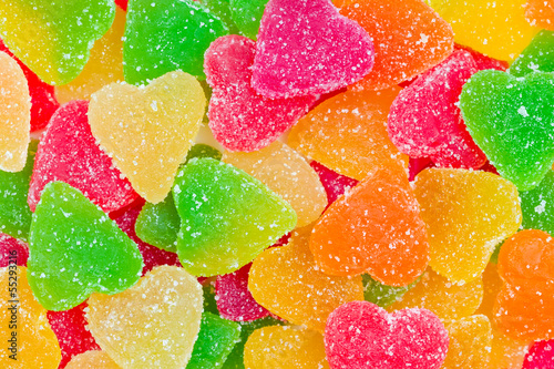 Colorful fruit candy
