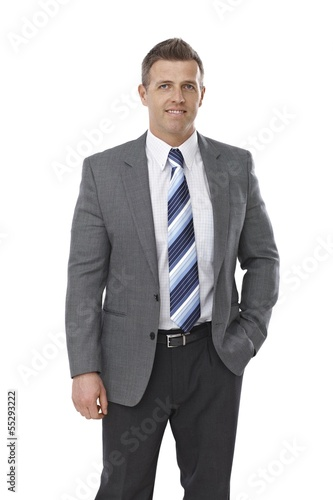 Portrait of elegant businessman