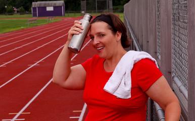 Plus Size Woman Exercising