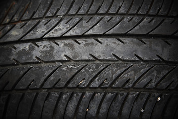 texture of used car tire