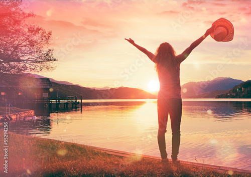 canvas print picture oh sunset