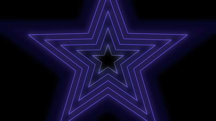 Blue star flash light replication