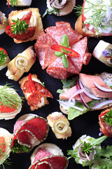 Assorted canapes