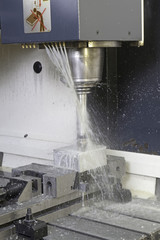 CNC lathe machine is running by anti-friction boron oil