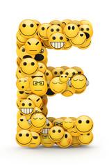 Emoticons letter E
