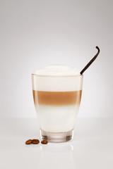 latte macchiato mit vanille