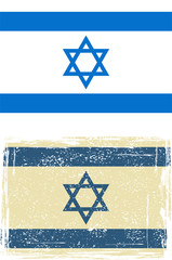 the Israeli grunge flag. Vector