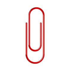 Büroklammer Vektor rot