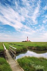 Leuchtturm Westerhever im Sommer