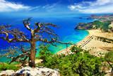 Fototapety fantastic beaches of Greece, Rhodes island