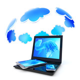 Cloud service for gadgets: laptop, tablet pc and smartphone