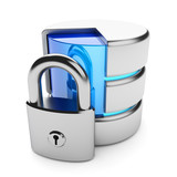 Closed access to the data storage. Information privacy concept.