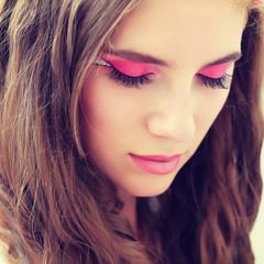 fantasy make-up close-up