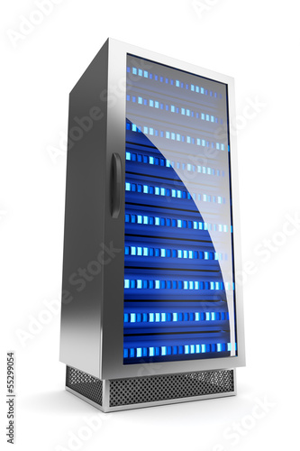Server rack icon. Hosting concept.