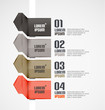 Modern ribbons infographic background