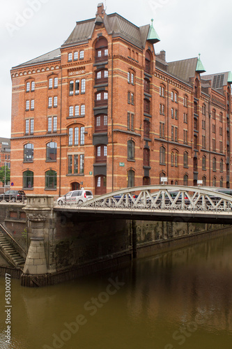 canvas print picture Speicherstadt 1441