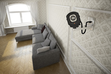 cctv camera in livingroom