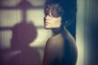 Leinwanddruck Bild - Sensual lady in classical interior