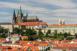 View of Prague Castle (Prazsky hrad) with St. Vitus Cathedral