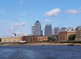 London skyline from Rotherhithe